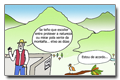 Cartoon - Environmental preservation and quality of life in the mountain