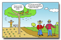 Cartoon - Rural areas and traditional ways for an healthy ageing